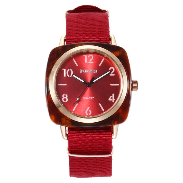 Alloy Fashion bolso cesta Men watch  (red) NHHK1259-red