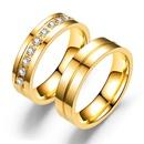 TitaniumStainless Steel Fashion Sweetheart Ring  6MM alloy without rhinestone5 NHTP00206MMalloywithoutrhinestone5
