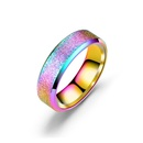 TitaniumStainless Steel Fashion Geometric Ring  6MM black5 NHTP00306MMblack5
