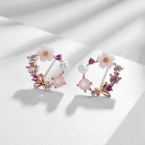 Copper Korea Flowers earring  (Photo Color) NHLJ4218-Photo-Color's discount tags