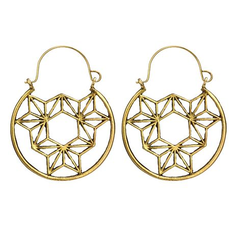 Alloy Simple Flowers earring  (Alloy) NHGY2768-Alloy's discount tags