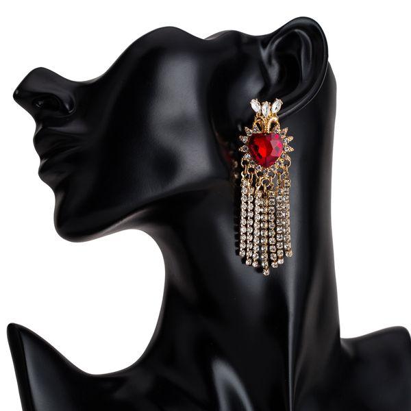 Acrylic Fashion Tassel earring  (Alloy) NHJE2313-Alloy