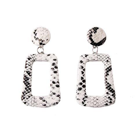 Plastic Fashion Geometric earring  (white) NHJQ11056-white's discount tags