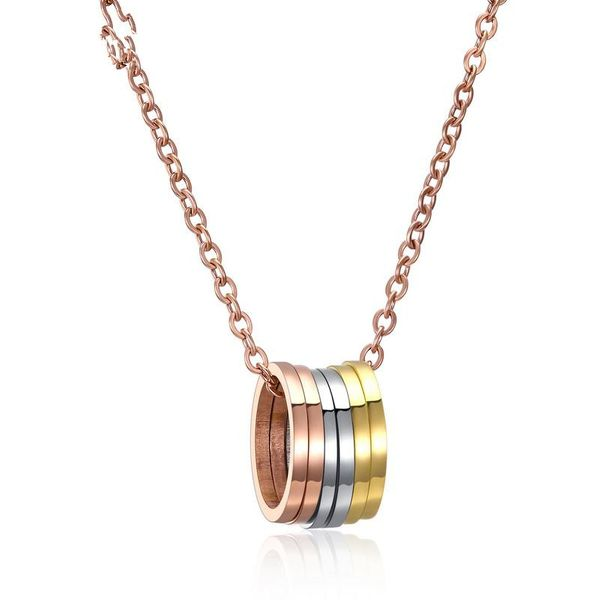 Titanium&Stainless Steel Korea Geometric necklace  (necklace) NHOP3103-necklace