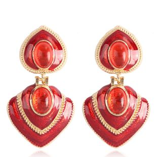Alloy Fashion Geometric earring  (red) NHMD5072-red's discount tags