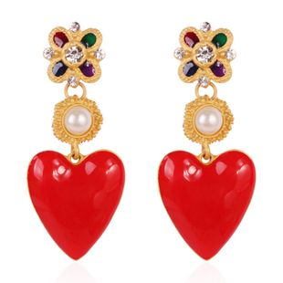 Alloy Fashion Flowers earring  (red) NHMD5080-red's discount tags