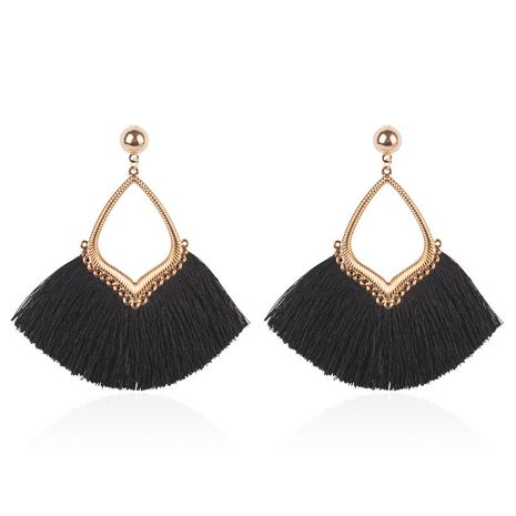 Alloy Fashion Tassel earring  (black) NHMD5082-black's discount tags