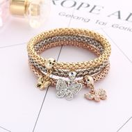 Imitated crystal&CZ Fashion Bows bracelet  (Butterfly GEE06-03) NHPJ0191-Butterfly-GEE06-03