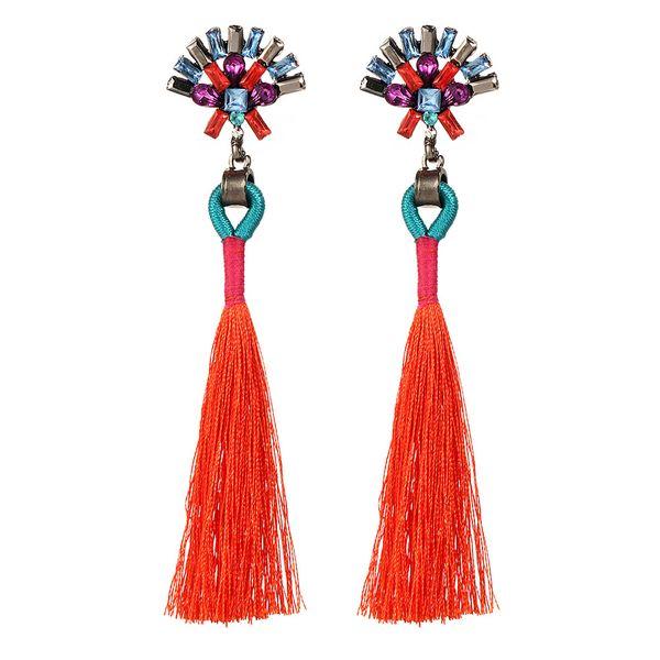 Alloy Fashion Tassel earring  (GAH0202 orange) NHPJ0215-GAH0202-orange