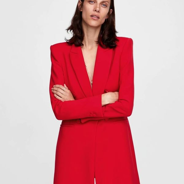 Polyester Fashion  coat  (red-S) NHAM7169-red-S