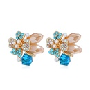Alloy Fashion Flowers earring  Pink KC Alloy NHKQ2165PinkKCAlloy
