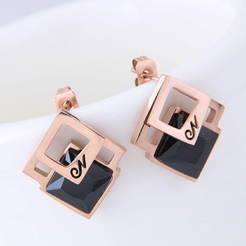 Titanium&Stainless Steel Korea earring NHNSC14522