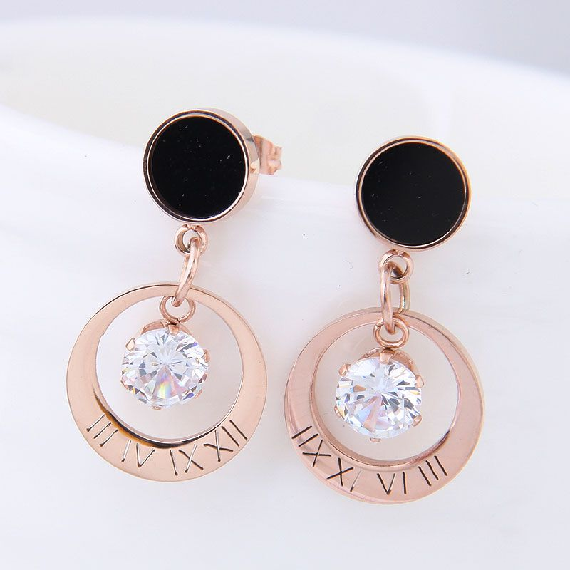 Titanium&Stainless Steel Korea earring NHNSC14528