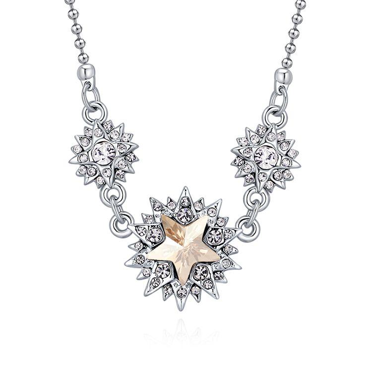 Austrian Imitated crystal Necklace  Colorful Flowers B Alloy Phantom NHKSE29790