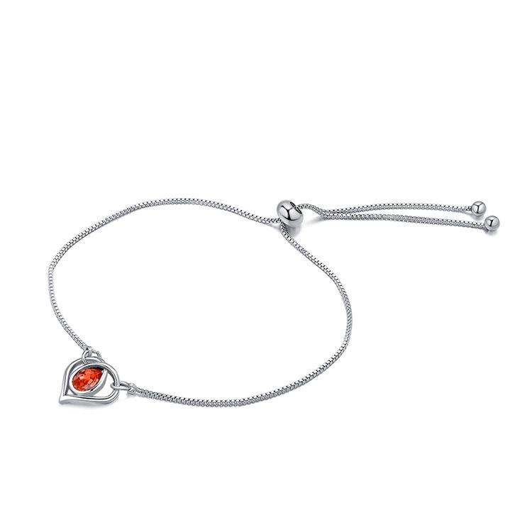 Austrian Imitated crystal Bracelet  Heart of Water Spirit Water Lotus Red NHKSE29886