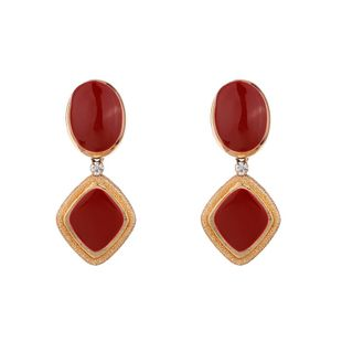 Alloy Fashion Geometric earring  (red) NHKC1346-red's discount tags