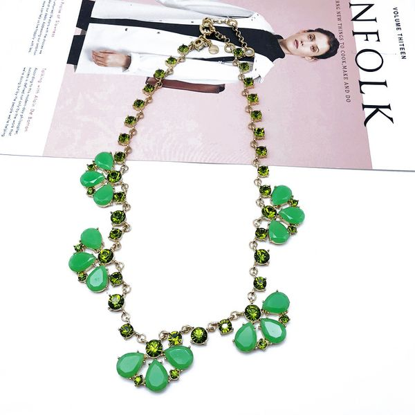 Alloy Fashion Flowers necklace  (Photo Color) NHOM1190-Photo-Color