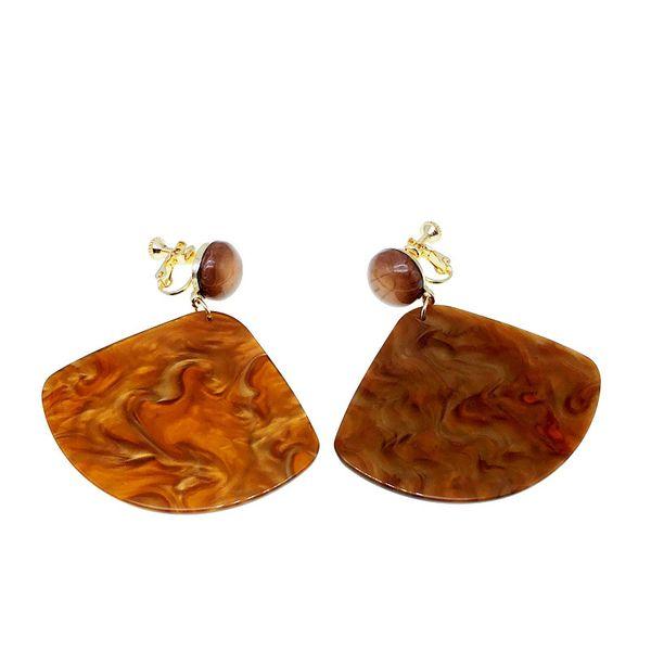 Plastic Fashion  earring  (Photo Color) NHOM1196-Photo-Color