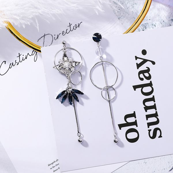 Alloy Korea Flowers earring  (925 alloy needle) NHMS1947-925-alloy-needle