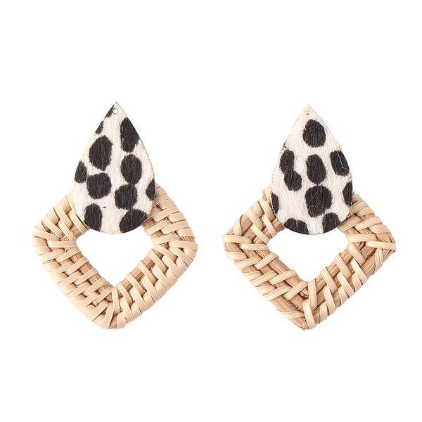 Alloy Fashion Geometric earring  (white) NHJQ11113-white