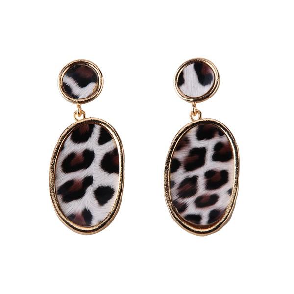 Cloth Fashion Geometric earring  (Dark gray) NHJQ11115-Dark-gray