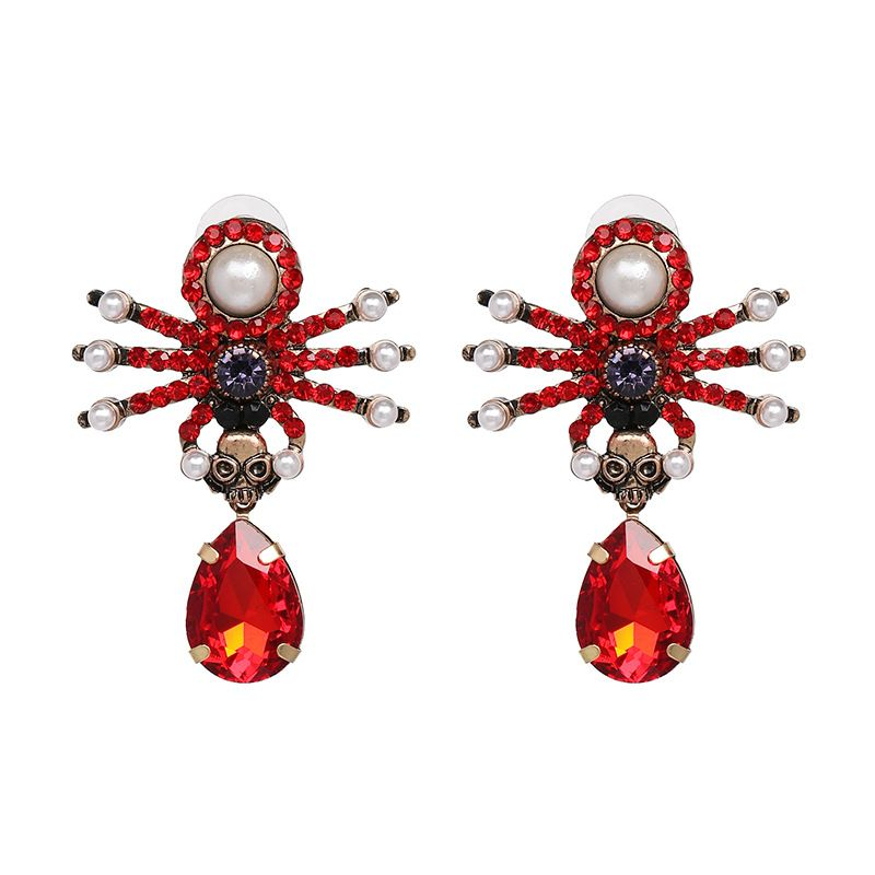 Alloy Fashion Animal earring  (red) NHJJ5367-red