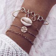 Bracelet en alliage géométrique simple (alliage) NHGY2800-alliage