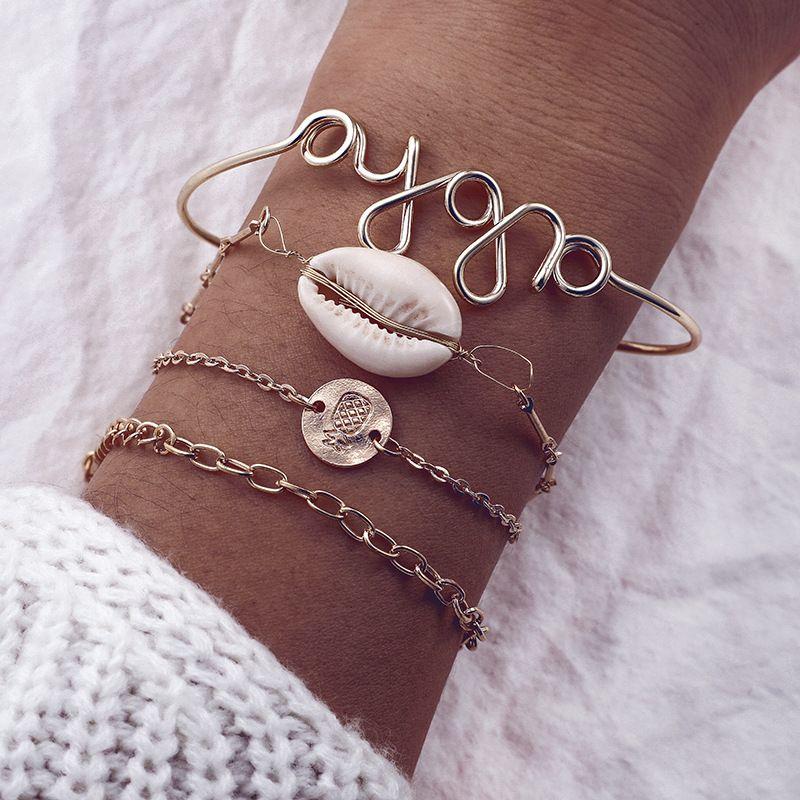Alloy Simple Geometric bracelet  (Alloy) NHGY2800-Alloy