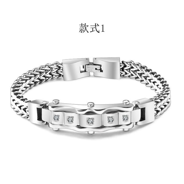 Titanium&Stainless Steel Vintage Geometric bracelet  (Style 1 small) NHOK0462-Style-1-small