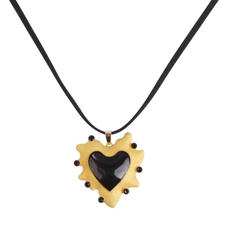 Alloy Fashion Geometric necklace  black NHMD5109black