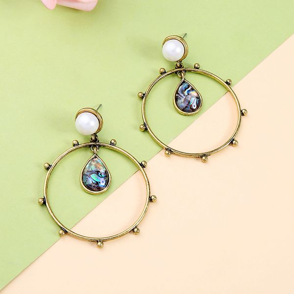 Alloy Fashion Geometric earring  (Photo Color) NHQD5979-Photo-Color
