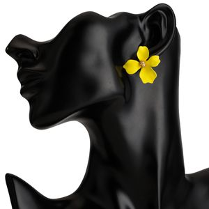 Alloy Fashion Flowers earring  (yellow) NHJE2361-yellow