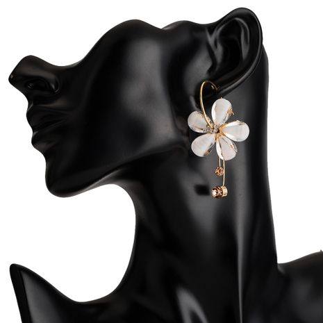 Plastic Fashion Flowers earring  (white) NHJE2367-white's discount tags