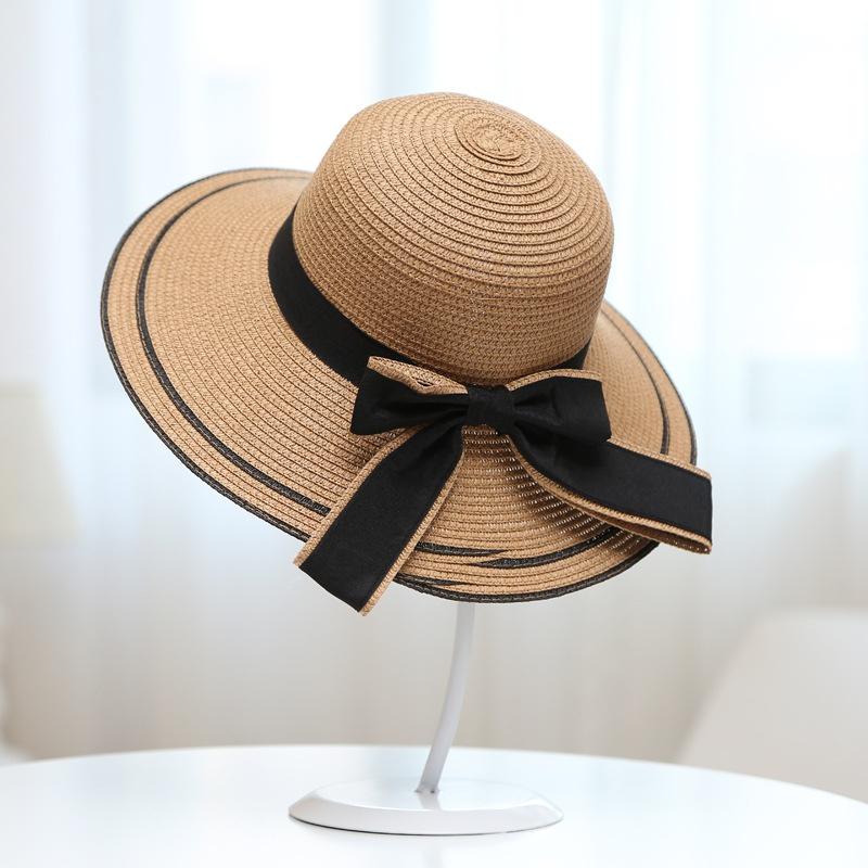 Cloth Korea  hat  (Black big bow + hat khaki D-156) NHXB0069-Black-big-bow-hat-khaki-D-156