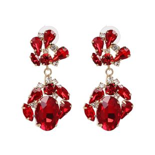 Alloy Fashion Geometric earring  (red) NHJJ5337-red's discount tags