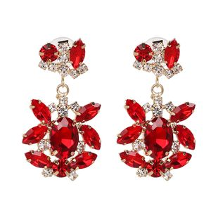 Alloy Fashion Geometric earring  (red) NHJJ5339-red's discount tags