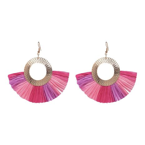 Alloy Fashion Geometric earring  (Pink) NHJJ5342-Pink's discount tags