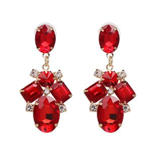 Alloy Fashion Geometric earring  (red) NHJJ5344-red's discount tags