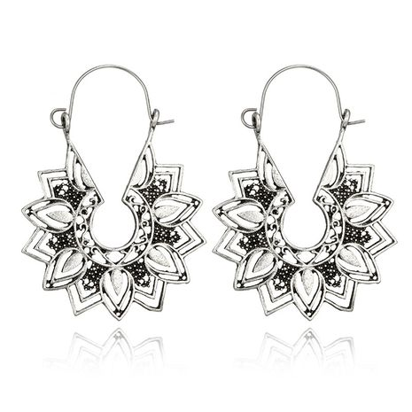 Alloy Simple Flowers earring  (Alloy) NHGY2752-Alloy's discount tags