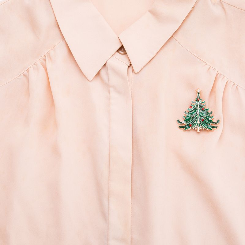 Alloy Fashion Geometric brooch  (Christmas tree) NHJE2221-Christmas-tree