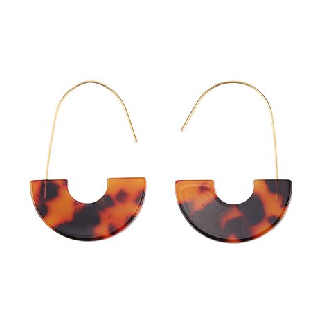 Plastic Fashion Geometric earring  (Lava color) NHJQ10999-Lava-color's discount tags