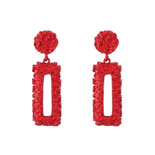 Alloy Fashion Geometric earring  (red) NHJQ11002-red's discount tags