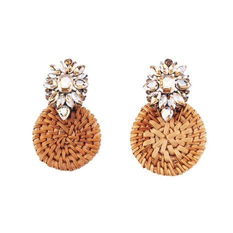 Alloy Fashion Geometric earring  (champagne) NHJQ11011-champagne's discount tags