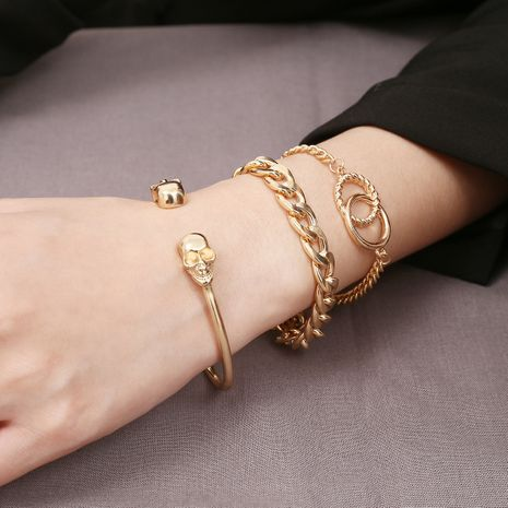 Alloy Simple Geometric bracelet  (Alloy 0154) NHXR2655-Alloy-0154's discount tags