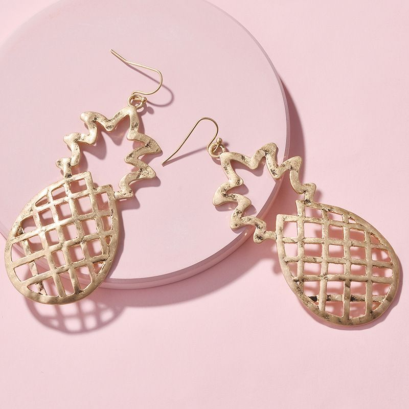 Alloy Fashion Flowers earring  (Yuan Jin) NHLU0446-Yuan-Jin