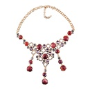 Imitated crystalCZ Fashion Geometric necklace  black NHJQ11001black