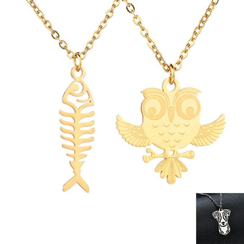 TitaniumStainless Steel Fashion Animal necklace  Giraffe steel NHHF1179Giraffesteel
