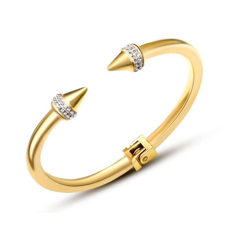 Titanium&Stainless Steel Korea Geometric bracelet  (Alloy) NHOK0444-Alloy