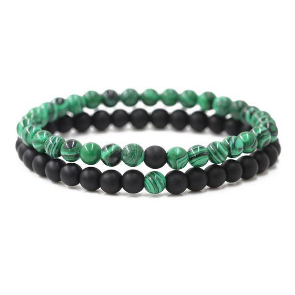Alloy Fashion Geometric bracelet  (malachite) NHYL0421-malachite