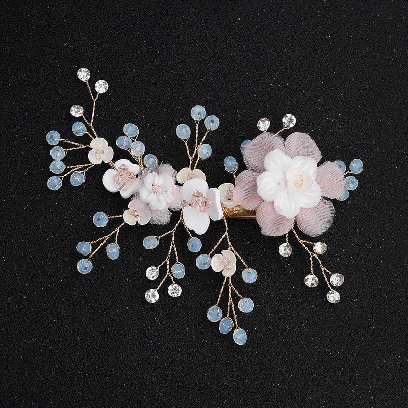 Acrylic Fashion Flowers Hair accessories  (Alloy) NHHS0579-Alloy